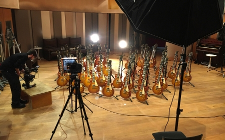 Mark Knopfler, gibson, guitar, custom, les paul, '58, british grove studio, dire straits, #peopleperson